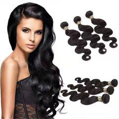 CFH Brazilian Human Weave Hair Unprocessed Body Wave 100g/pc Natural black Color natural black 16inch