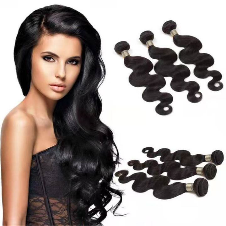 CFH Brazilian Human Weave Hair Unprocessed Body Wave 100g/pc Natural black Color natural black 8inch