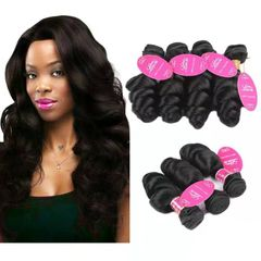 CFH Loose Wave Hair Weft natural black color 100% Brazilian  Human Hair Unprocessed 100g/pc natural black 14inch