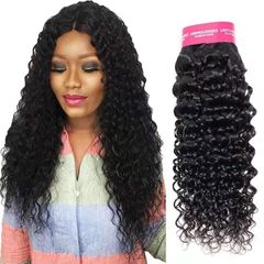 CFH Water Wave Hair Weft natural black color 100% Brazilian Human Hair Unprocessed 100g/pc natural black 14inch