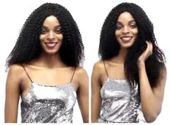 CFH Kinky Curly 4*4 lace wig human hair Fashion Frontal Lace Wig black as picture as picture 16inch