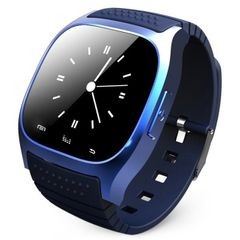 Bluetooth Smart Watch Wristwatch Smartwatch SMS Remind Music Player Pedometer for Smartphone Blue One Size