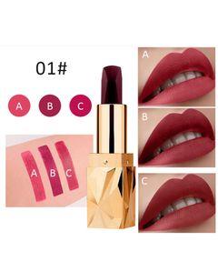 Lipstick Lip Color Matte Non Stick Cup Lipstick Diamond Shape Tubes Matte Lipstick 06#