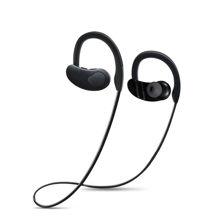 Long Time Working Mini Wireless Stereo Dynamic Earphones Mini Earbuds Noise Cancelling for Sports Black