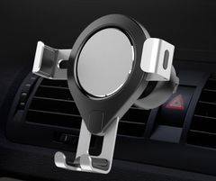 Gravity Car Holder For Phone in Car Air Vent Clip Mount No Magnetic Mobile Phone Holder Cell Stand Silver