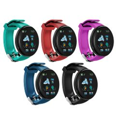 D18 Bluetooth Bracelet Smart Watch 1.3 Inch Screen Heart Rate Blood Pressure Waterproof Smartwatch blue one size