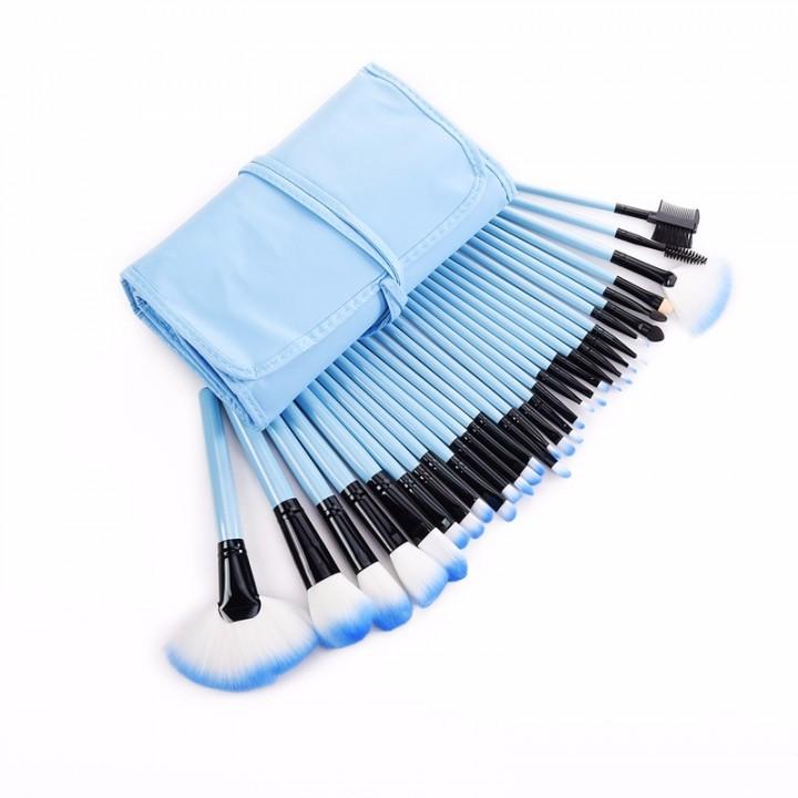 32Pcs Makeup Brushes Professional Cosmetic Make Up Brush Set blue