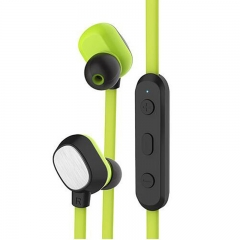 Ear hook Bluetooth wireless Headset Sport earphone for Iphone and Android Infinix /Cubot green