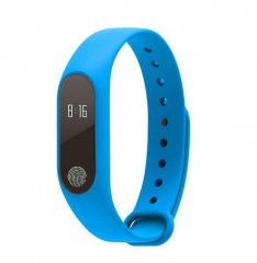 Smart band M2 Bluetooth4.0 Waterproof IP67 Smart Bracelet Heart Rate blue one size