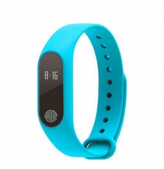 Smart band M2 Bluetooth4.0 Waterproof IP67 Smart Bracelet Heart Rate skyblue one size