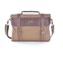 Shoulder Bag Vintage Canvas Leather Messenger Bag Laptop For Men's Portable Briefcase Bags