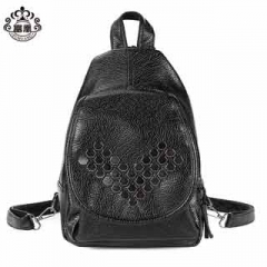 Unique personality charm and fashion functional retro style backpack high-capacity ladies school bag