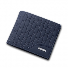 2016 men short wallet card business more stylish Slim Wallet cross blue one size