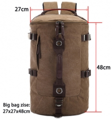 Large capacity man travel bag mountaineering backpack men bags canvas bucket shoulder bag coffee small