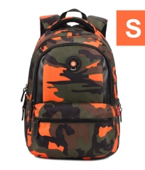 3 Sizes Camouflage Waterproof Nylon School Bags for Girls Boys Orthopedic Children Backpack Kids Bag orange S one size