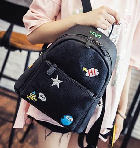 92e484da182d Simple Designer Small Backpack Women Travel PU Leather Backpacks Ladies Fashion  Female Rucksack Bag black one
