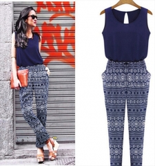 sexy women fashion playsuits jumpsuits blue s