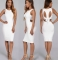 Summer Women White Dress Sleeveless Bodycon dress white s