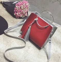 Women handbag vintage bag shoulder bags red one size