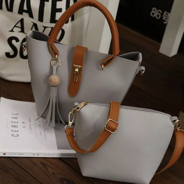 new women handbag hand bag grey one size