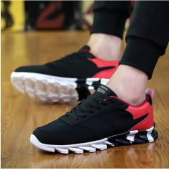 2017 New Men's Fashion Shoes Casual Breathable Mesh Flat Shoes Exercise Jogging Men Shoes Lace-up gray 45