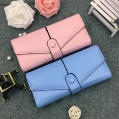 New Style Ladies Small Women Wallet Fashion Style Women's Solid Wallets High Quality Leather Walltes white one size