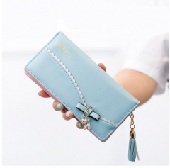 Fashion Standard Wallets 2016 New Womens Wallets and Purse Wallet Card Holder Long Ladies Clutch purple one size