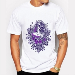 Multicolor Men's Print T-Shirts O-Neck Men's Clothing Basic T-Shirts Casual Clothing Cotton T-shir picture 01 10