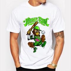 Men's T-Shirts Funny Print Monkey T-Shirts FASHION O-Neck Men's Basic T-Shirts Casual Cotton T-shirt white 8
