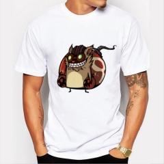 Evil Squirrel Men's Funny Print T-Shirts O-Neck Men's Clothing Basic T-Shirts Casual Cotton T-shirt white 8