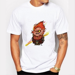 Fire Evil Squirrel Men's Funny Print T-Shirts O-Neck Men's Clothing Basic Casual Cotton T-shirt white 8