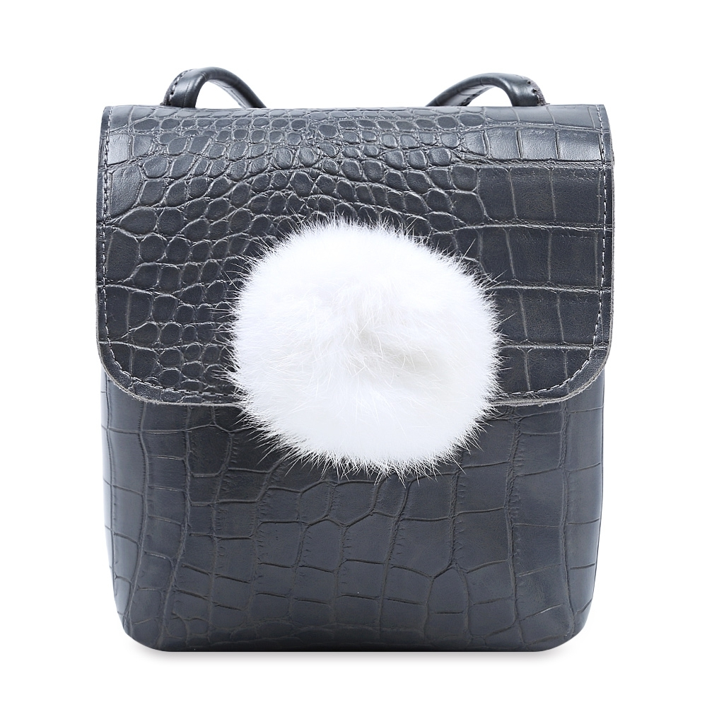 88a72529c581 Item specifics  Seller SKU 205327701  Brand  Cute Animal Pattern Hairball  Decoration Handbag Tote Shoulder ...