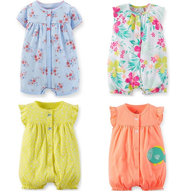 79f197464 Summer Carters Cotton Newborn Baby Romper Sleeveless Baby Romper ...