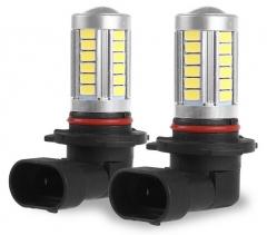 2X 9005/HB3 5630 SMD 33 LED Car Fog Light Headlight Day Running Driving Lamp Bulb Cool White 12V