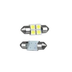 2X 5050 4smd 31 White Festoon Dome Car Light Lamp Bulb/Reading Light