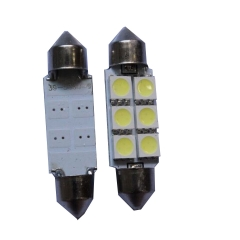 2X 5050 6smd 39 White Festoon Dome Car Light Lamp Bulb/Reading light