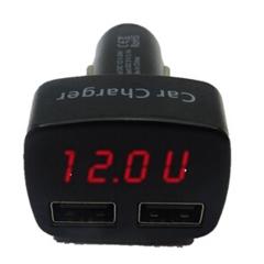 12-24V 4 in 1 Car Charger Dual DC 5V 3.1A USB Voltage Current Meter Tester Adapter