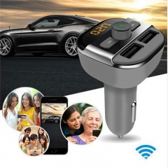 Bluetooth 2.1 Version Car MP3 WMA Audio Transmitter Hands-free Call 5V 3.4A Dual USB Charger