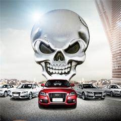 Zinc Alloy Demon Skull Car Sticker for Rear Windom