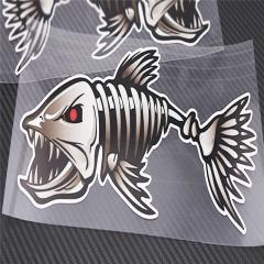 Adhesive Reflective Skeleton Fish Shark Free Car Sticker for Car Body