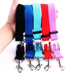 Adjustable Pet Dog Cat Car Seat Belt Safety Leads Vehicle Seatbelt Harness Made from Nylon Fabric