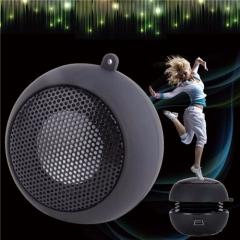 Mini Portable Hamburger Speaker with Subwoofer for iPod/iPhone/Tablet/Laptop PC/MP3 Black 3.4*5.7*8cm