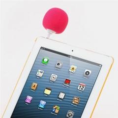 Sponge Balloon Ball Style Music Speaker Portable 3.5mm Audio Peaker Mini Speaker Player Pink 3.4*5.7*8cm