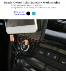 2 in 1 Charging Portable Zipper Date Cable for iPhone6/6s Plus/5s/Samsung/Xiaomi/Meizu/Huawei Blue