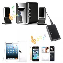 A2DP Audio Stereo Music Bluetooth Transmitter  Receiver Black 3.4*5.7*8cm