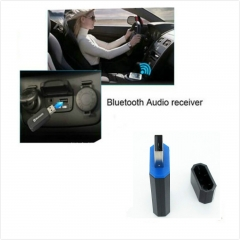 Universal USB Streaming Car A2DP Wireless  Music Bluetooth Receiver Adapter for iPad/iTouch/MP3 Black 3.4*5.7*8cm