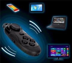 Bluetooth GamePad Game Remote Controller Selfie Camera Shutter Console Controller for Tablet TV Black 3.4*5.7*8cm