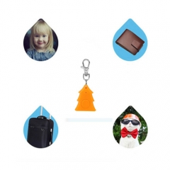 Christmas Tree Smart Finder Bluetooth Anti-lost Alarm Child Pets GPS Locator for Android IOS Yellow 3.4*5.7*8cm