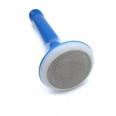 LED Colorful Karaoke Speaker Portable Wireless Microphone Speaker with Mic Blue-2pcs