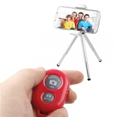 Wireless Bluetooth Shutter Remote Control Camera for Extendable Handle Monopod Selfie Stick Rose 3.4*5.7*8cm